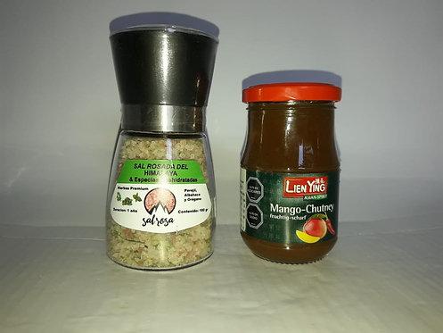 PACK UNA PASTA + MOLINO M STD 180 g. con sal y/o especias chilenas