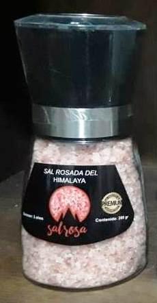 Molinillo M estándar con sal rosada del Himalaya 200 g.