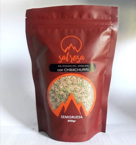 Doy Pack con sal del Himalaya con CHIMICHURRI 500 g