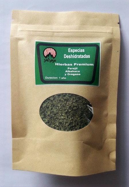 Doy Pack Hierbas Premium. Especias Deshidratadas Chilenas 25 g.
