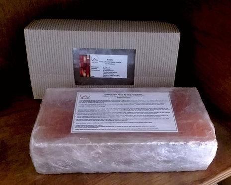 Pack 2 tablas individuales de sal rosada 20x10x2.5cm