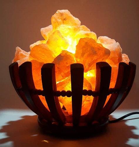 Lámpara canasta de la abundancia (Madera)