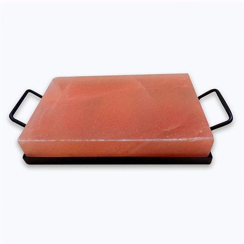 """Pack Bandeja de metal con Tabla de sal rosada Premium 30x20x5cm (12x8x2"""")"""