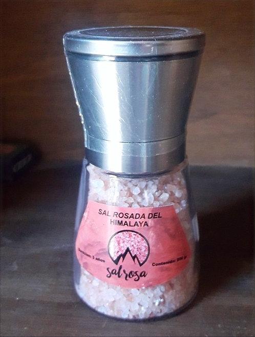 Molinillo M tapa Acero Inoxidable con sal rosada del Himalaya 200 g.