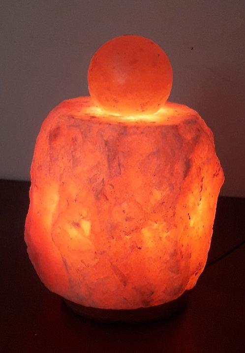 Lámpara rústica con bola de masaje