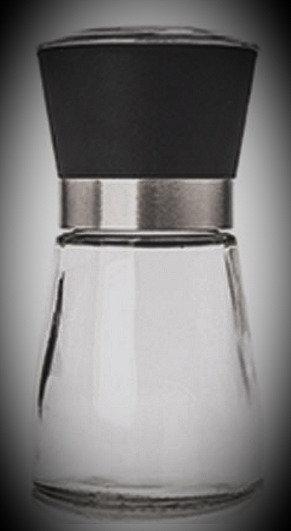 10 Molinillos M estándar de cerámica con envase de vidrio de 180 - 200 g.