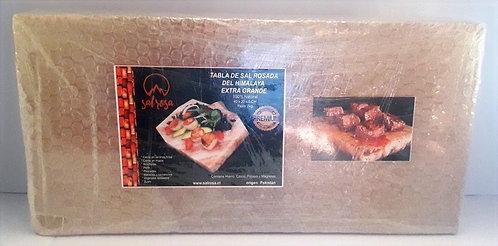 Tabla de sal rosada  FAMILIAR  40x20x5cm,  y 8 Kg