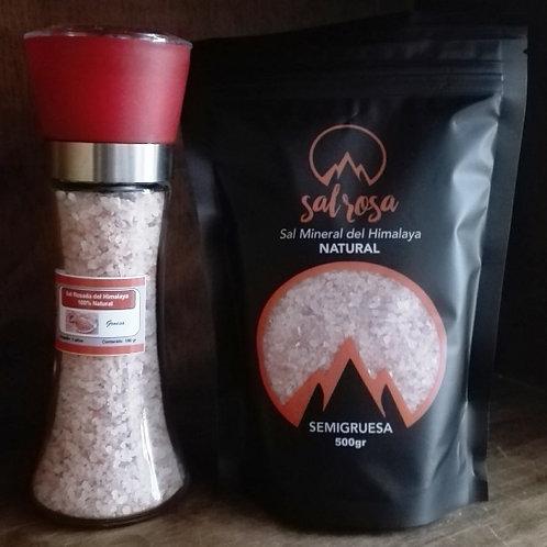 Molinillo L estándar con sal 200 g. + Doy Pack 500 g. con sal mineral Himalaya