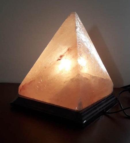 Lámpara pirámide G de 20 cm. Sal Rosada del Himalaya