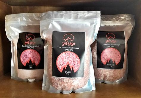 5 unidades: Doy pack sal rosada del Himalaya NATURAL 1 kg.