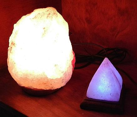 Pack USB y Lámpara rústica de sal rosada 2 a 3 kg