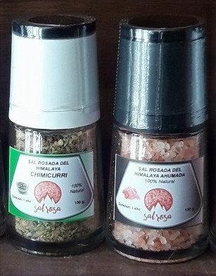 Pack 2 Molinillos Premium 150 gr Sal Ahumada y Chimichurri