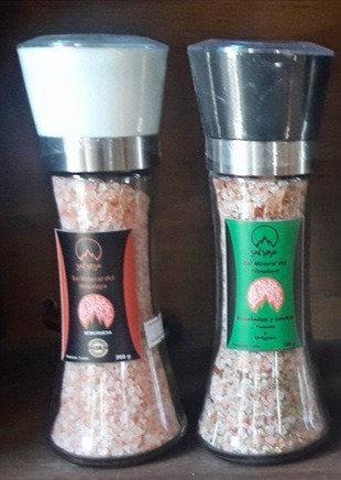 Pack 2 Molinillo L estándar con sal rosada del Himalaya y/o especias chilenas