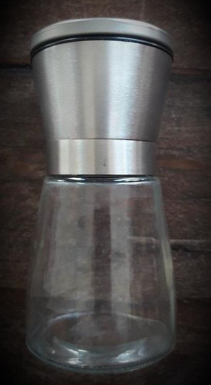 Molinillo M tapa acero inoxidable de cerámica con envase de vidrio 180 - 200 g.