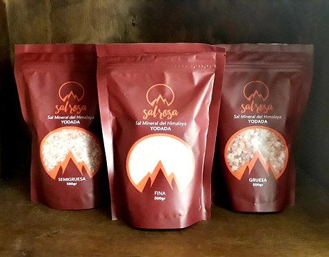 Pack 3 Unidades: Doy pack sal rosada del Himalaya NATURAL YODADA 500 g.
