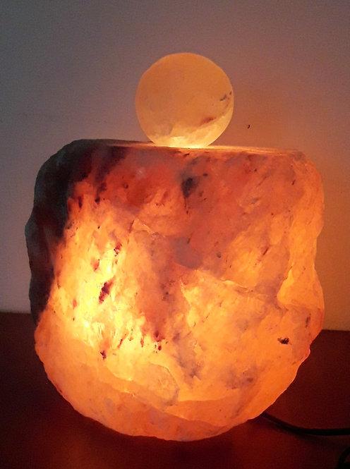 Lámpara rústica G con bola de masaje con base halogena