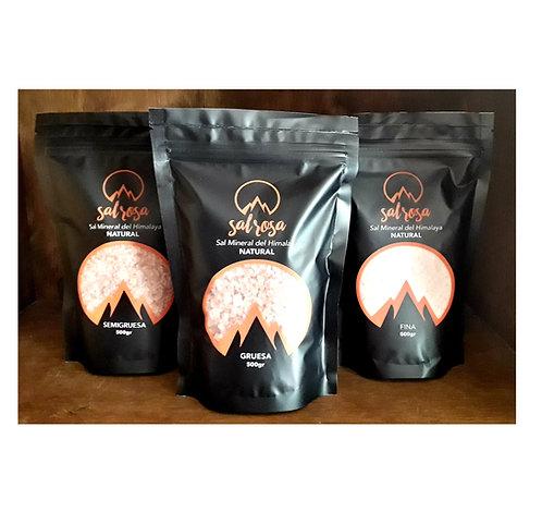 Pack 3 Unidades: Doy pack sal rosada del Himalaya NATURAL 500 g.