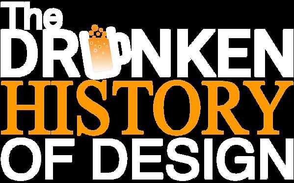 Drunken History Of Design Logo - White.p
