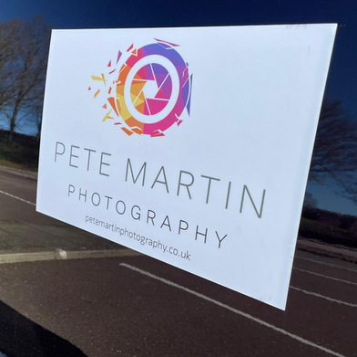 Magnetic Van Livery produced for Pete Martin Photography.