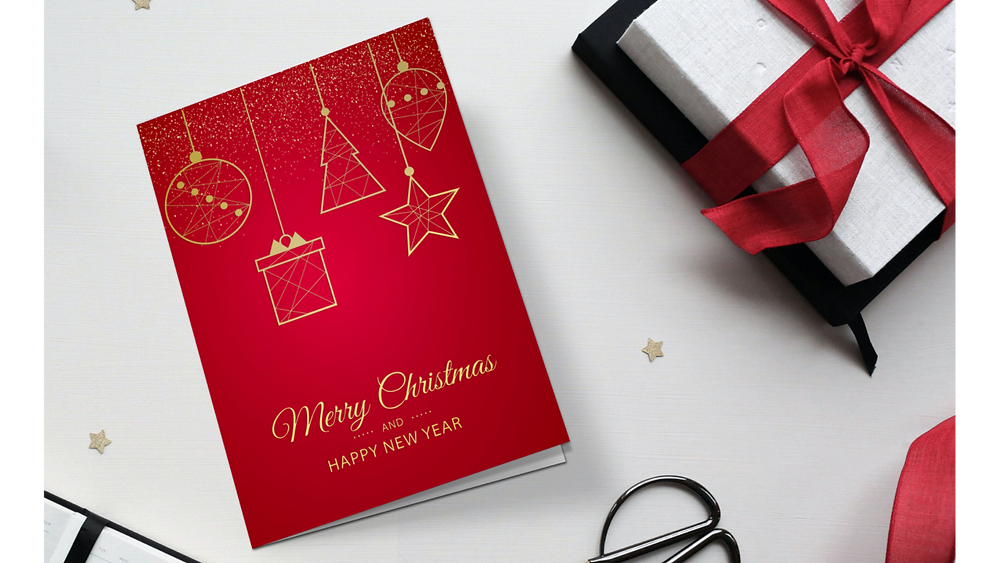 Bespoke Christmas greetings card.