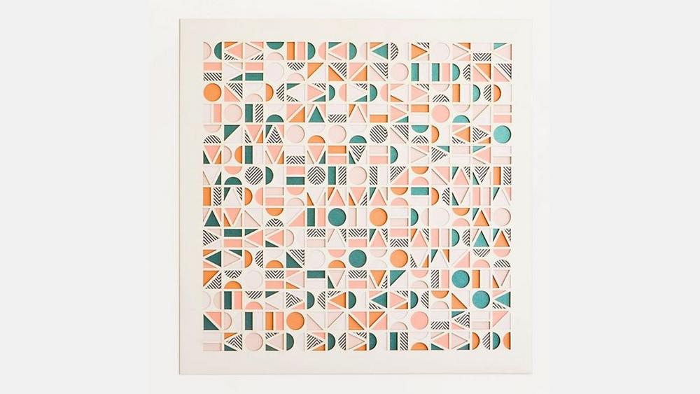 A design with laser-cut geometric shapes