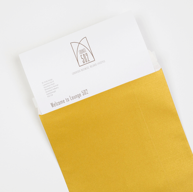 Gold Envelopes and Letters for Lounge502.