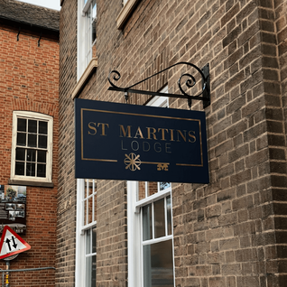 Projecting Signs for St Martin's Lodge.