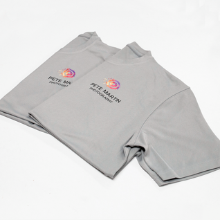 Branded t-shirts printed for Pete Martin Photography.
