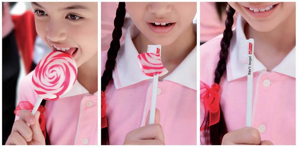 Colgate's Don't Forget Promotional Lollipop Campaign