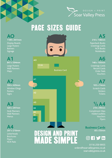 A page size guide for print.