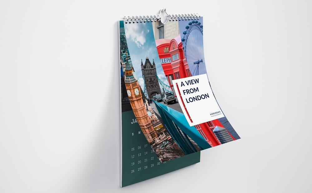 London wall calendar.