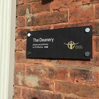 Acrylic Signage for the Diocese of Leicester.