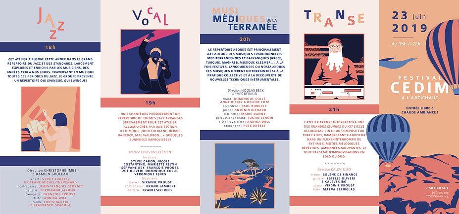 programme Festival du Cedim 2019 - 10p -