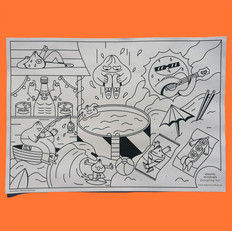 Steamy Windows - Coloring page