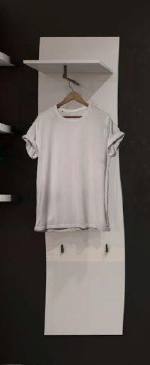 Kıss Garderobenpaneel mit 5 Knöpfe und 1 kleiderstange