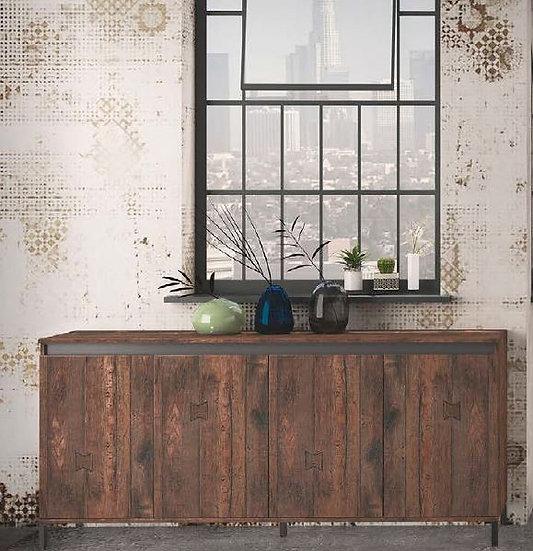 Genio industrial Sideboard 4 Türen