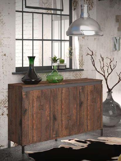 Genio industrial Sideboard 3 Türen