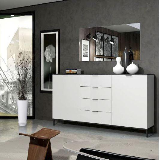 Stone Sideboard 2 Türen + 4 Schubladen mit Softclose