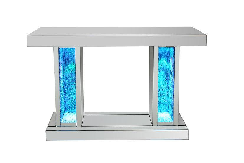 Konsole verspiegel mit LED Beleuchtung und Natursteinoptik GEL-1A042