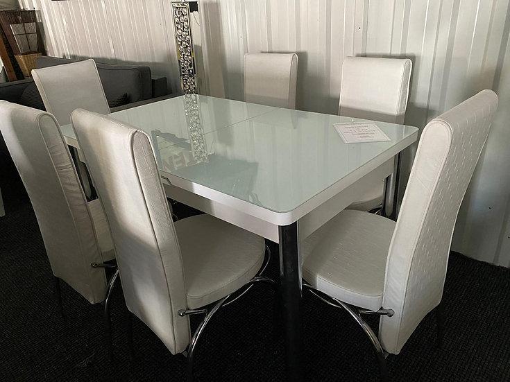 Kelebek Esstisch + 6 Stühle