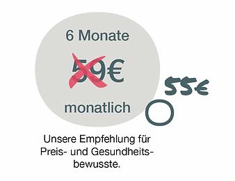 Preis für 6 Monate Mitgliedschaft Medical Fitnessstudio bei PhysioCare in Oldenburg