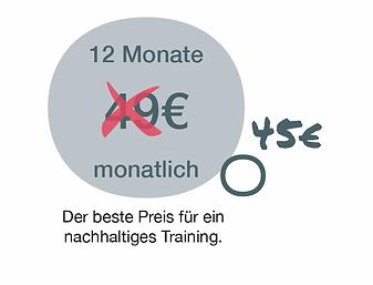 Preis für 12 Monate Mitgliedschaft Medical Fitnessstudio bei PhysioCare in Oldenburg