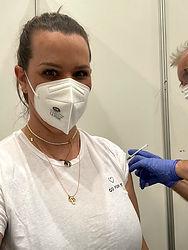 Erste Impfung bei PhysioCare mit Biontec