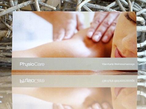 Zehnerkarte für Wellness und Massage PhysioCare