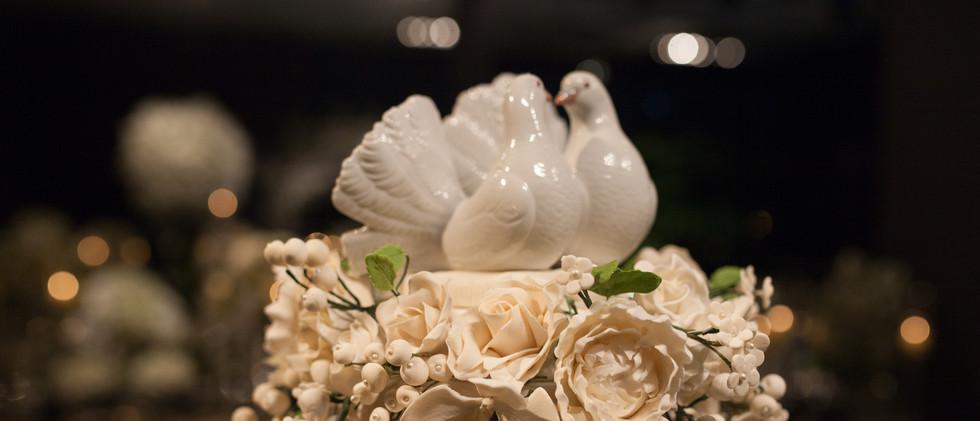 Detalhe buquê - peônias, rosas e orquídeas