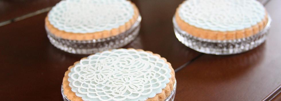 Biscoitos amateigados decorados