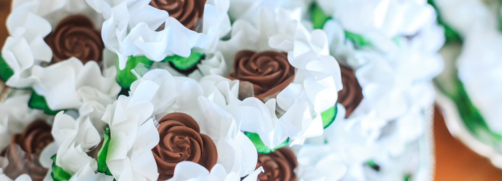 Rosa de chocolate ao leite