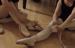 Ballettunterricht-Spitzenta