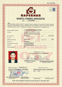 Kartu Tanda Anggota Gapeknas, BMIS.jpg
