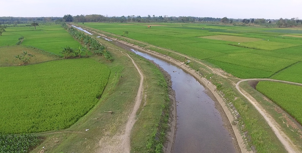 The 15 km primary irrigation channel under rehabilitation to restore its function